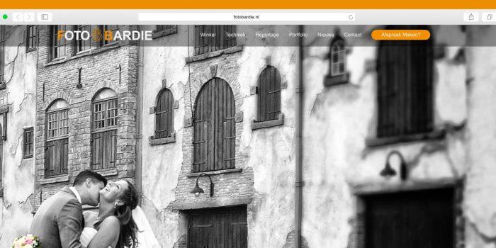 Zojuist opgeleverd nieuwe website www.fotobardie.nl